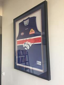 Western Bulldogs 2010 Framed Signed Guernsey