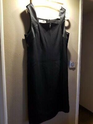 Chic et sobre robe christian dior sans manche noire t.12usa / 44  vintage