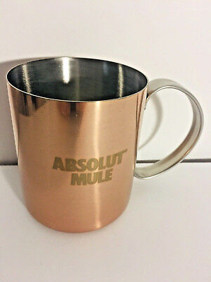 Absolut Mule Vodka Copper Metal Cup Mug 12 ounce New   F3 for sale  White Lake