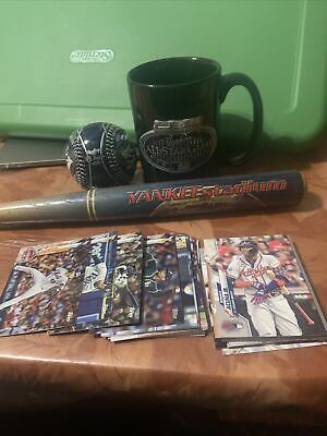 Yankees All Star Game Mug Rawlings LE Baseball Yankee Stadium Mini Bat 32 Topps