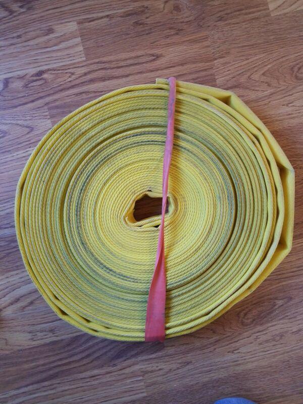 YELLOW FIRE HOSE 1 3/4 IN.(FLAT)  BUMPER RAILING MOORING 24 FT IN LENGTH