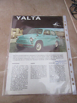 Yalta Scaldia-Volga car Leaflet/flier - circa 1968 1969 Dutch