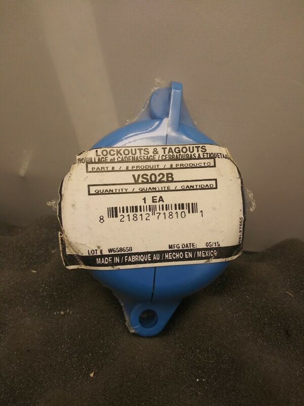 "Honeywell Blue Polypropylene Gate Valve Lockout Valve Handle 1"" to 2-1/2"" VS02B"