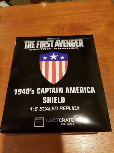 CAPTAIN AMERICA SHIELD 1940s 1:6 Scaled Replica Loot Crate Exclusive LootCrate