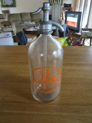 VINTAGE BOURBON GRAND POP BOTTLING CO CINCINNATI 32 OUNCE SODA BOTTLE DISPENSER