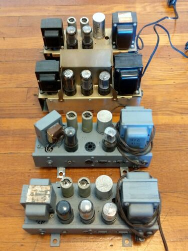 4X Ampex 6V6 Tube Mono Amplifiers Amp