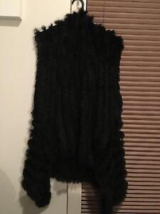Black rabbit fur vest Adelaide CBD Adelaide City Preview