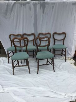 Set of six antique balloon back chairs, made in 1880s