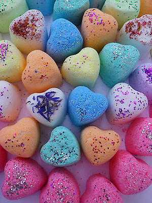 100 Lush Smelling mini Hearts Bath Bombs Limited Offer £15.99