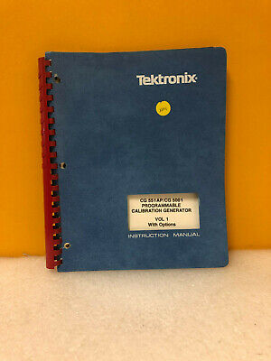 Tektronix Cg 551 Apcg 5001 Instruction Manual