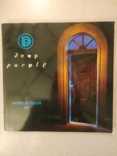 1987 Deep Purple Concert Tour Program Book