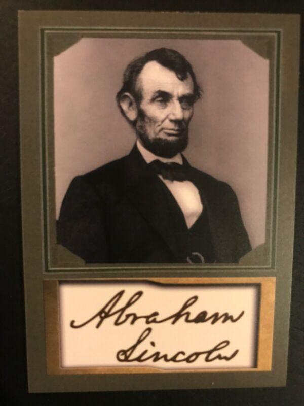 ABRAHAM LINCOLN - PORTRAIT ACEO PROMO CARDS w/ Facsimile Autograph