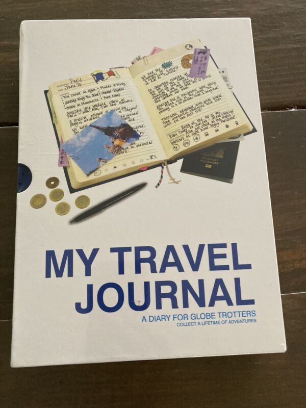 My Travel Journal Hardcover Diary for Globe Trotters Trip Memories New Sealed