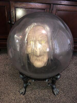 Vintage Gemmy Spirit Ball Witch * Works Animated Lights Sound * Halloween *