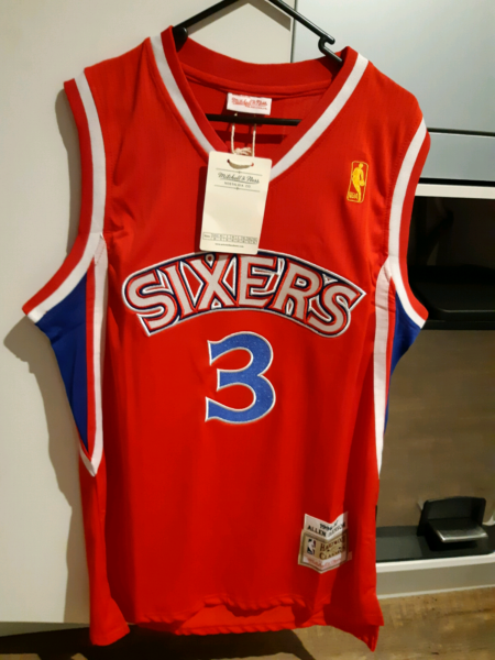 b1c521cb9a autuentic allan iverson mitchell ness sixers nba jersey singlet l