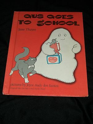 AH Gus Goes To School Was A Real Dumb Ghost Halloween Kid Book Child Orange Cat