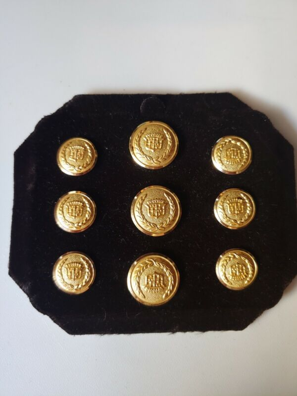 Rare Vintage CADILLAC 24K Gold PLATED Shank Buttons ... DEALER AWARD