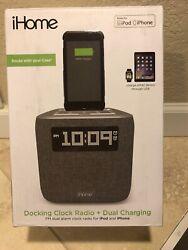 iHome iPL8XHG Dual Alarm FM Clock Radio with Lightning Dock for iPhone