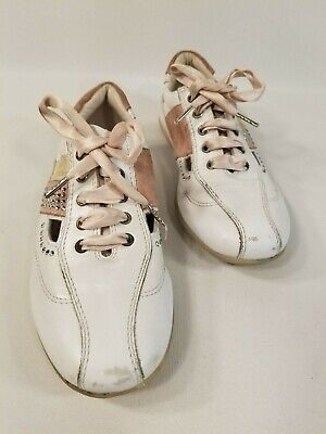 Miss Blumarine Girls Leather Shoes With Crystals Made In Italy US 10.5 EU 28