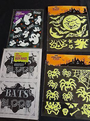 Halloween Accessories - Halloween Stickers Range - Glow in the Dark, Brew Badges