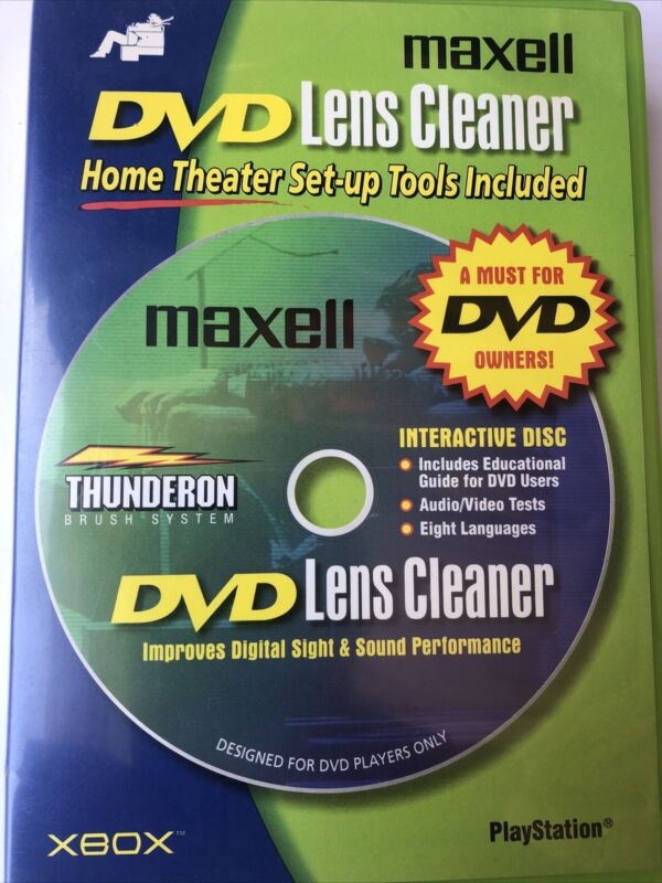 Maxell DVD-LC DVD Laser Lens Cleaner Xbox and Playstation Cleaner