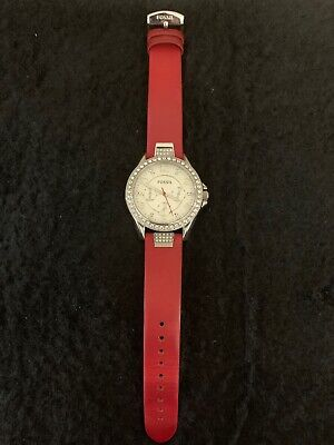 fossil watch women leather band ()