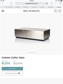 Luxe coffee table, new in box.