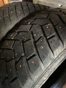 2 studded winter tires 215-70-15