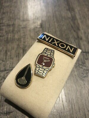 Nixon Enamel Pin Set 3 Piece (Nixon Logo, Nixon The Player, Nixon Name Logo)