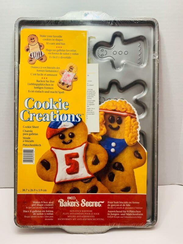 Vintage Nestle Cookie Creations Ekco Bakers Secret NonStick Bakeware. Sealed..