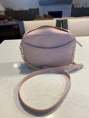 NWT Tory Burch Alexa Stitch Leather Camera Bag Shell Pink New