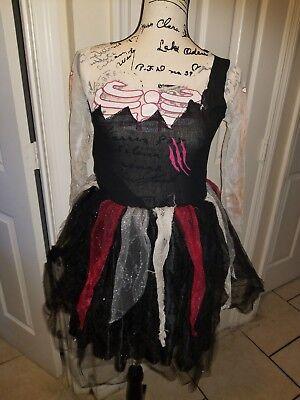 Girls Costume Kids Halloween Zombie Bride Fancy Dress Cosplay  (Girls Zombie Bride Costume)