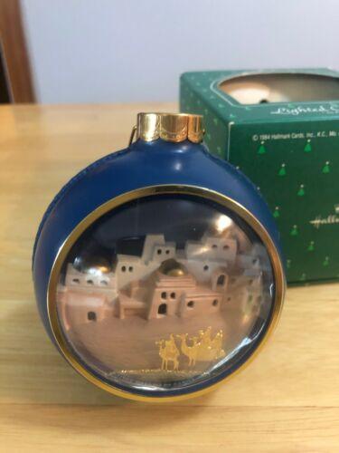 "1984 Hallmark ""Nativity"" Lighted Christmas Ornament"