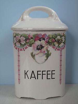 """""""KAFFEE"""" Vorratsdose Vorratsbehälter Keramik romantisch Blumen Shabby Jugendstil"""