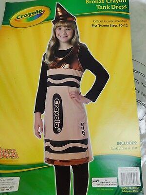 Rasta Imposta Crayola Bronze Crayon Girl's Halloween Costume 10-12 Tween #5155 - Rasta Girl Costume