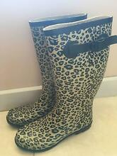 GUM BOOTS -  LEPARD PRINT SIZE 6 Brinkworth Wakefield Area Preview