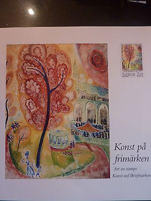 Schweden - Kunst-Edition mit Briefmarken -
