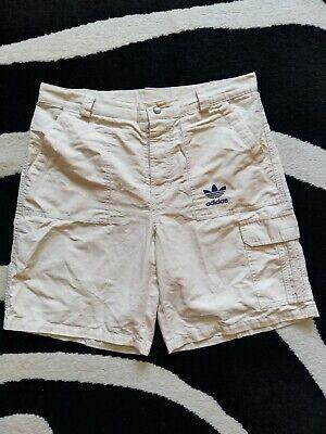 Adidas Trefoil Bermuda, Herren Shorts, Gr. M 34 mit Maßangabe, beige, gebraucht - Adidas Bermuda Shorts