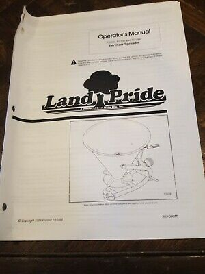 Land Pride Fertilizer Spreader Fs500 Fs700 Fs1000 Owners Manual