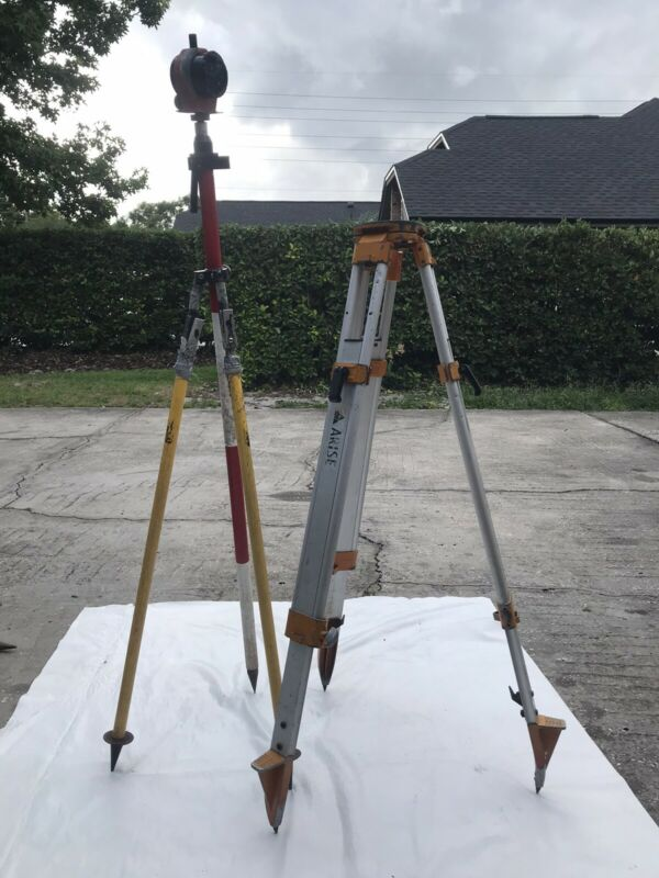 Surveying Starter Kit Arise Aluminum Tripod, Metal Prism, Bipod Prism Ext. Pole