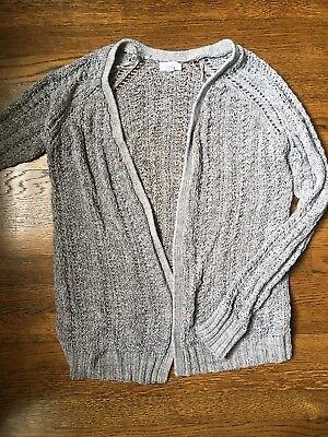 Black & White Pea In The Pod Swing Sweater Cardigan - Size L