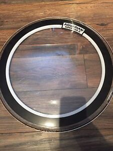 Used bass drum skin