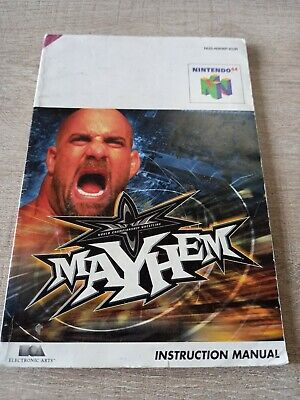 Notice de jeu Nintendo N64 FR originale mayhem Manuel