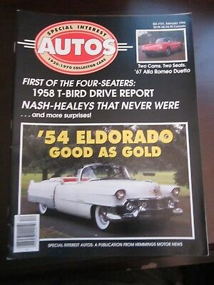 Special Interest Auto Magazine February 1996 '54 Eldorado 1958 T-Bird (Y9)