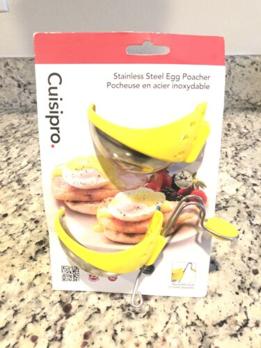 Cuisipro Stainless Steel Egg Poacher Set Of 2 Poachers