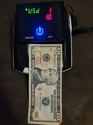 Counterfeit Money Uv Detector Scanner Fraud Fighter Ct-550 Ac Battery Tested