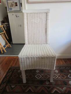 SIX WHITE CANE CHAIRS Potts Point Inner Sydney Preview