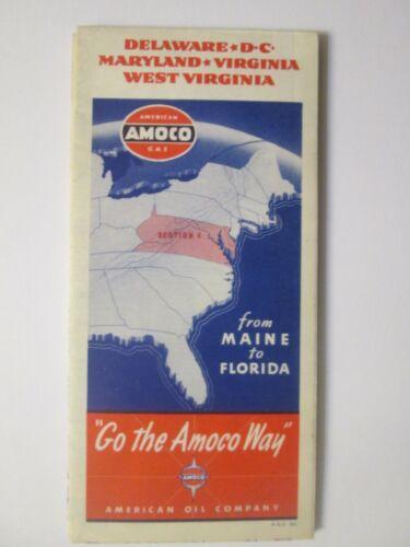 Amoco Map of Delaware D.C. Maryland Virginia West Virginia 1942