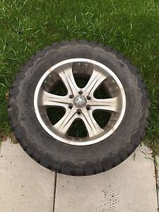 "Set  of 4 18"" rims and KO2 Tires"