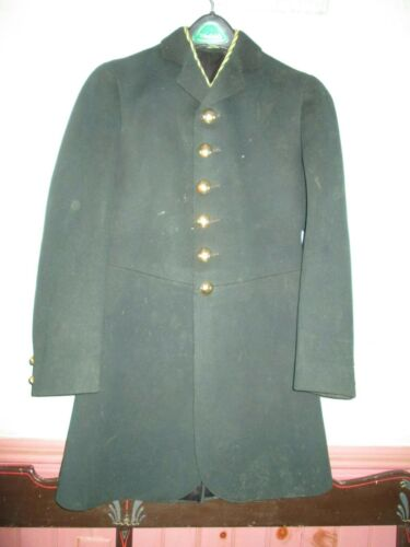 ANTIQUE Livery coat hand tailored, lined dark green - size 32
